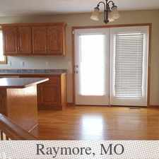 Rental info for Raymore - Enjoy This 3 Bedroom Home. Washer/Dry... in the Raymore area