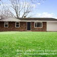 Rental info for 4060 Arborcrest Drive in the Indianapolis area