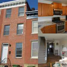 Rental info for Beautiful townhouse across from the stadium in the Baltimore area