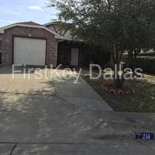 Rental info for 214 Los Cabos Drive in the Dallas area