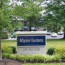 Rental info for Allyson Gardens in the Owings Mills area