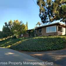 Rental info for 3565 Bentley Dr in the San Diego area
