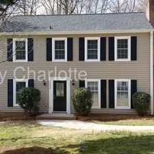 Rental info for 11534 April Day Lane Charlotte NC 28226 in the Charlotte area