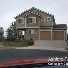 Rental info for 4980 Sweetgrass Lane in the Colorado Springs area