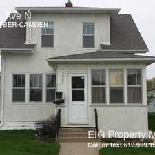 Rental info for 3907 Colfax Ave N in the Minneapolis area