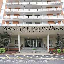 Rental info for 1800 Jefferson Park Ave #307