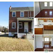 Rental info for Gorgeous 3 Bedroom End of Group Available Now in the Baltimore area