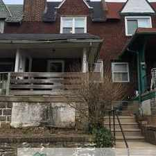 Rental info for Spacious Row home! Must see! in the Philadelphia area