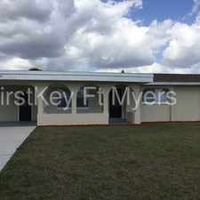 Rental info for 1033 Northeast 4th Street in the Cape Coral area