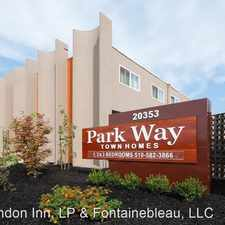 Rental info for 20353 Park Way in the Castro Valley area