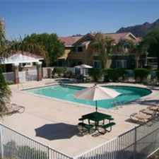 Rental info for Pool, Spa, Playground, Grilling and Picnic Area, Basketball Court, Reserved carports for residents, Extra onsite storage available. Within walking distance to grocery stores, salons, Starbucks, La Quinta Civic Center and Library, on the Sunbus line