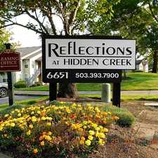 Rental info for Reflections at Hidden Creek Apartments in the Northgate area
