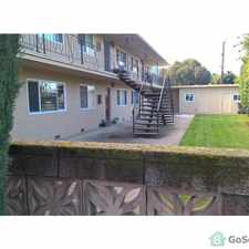 Rental info for Large upstairs apartmnet with all New appliances, Ceiling fan, new wood fooring, all on one floor, 1 Carport and 1 off street parking space. space and 1 other off street parking space. Tenant must be NON-Smoker. in the Gilroy area