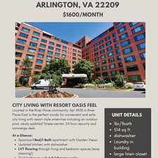 Rental info for 1021 Arlington Boulevard in the North Rosslyn area