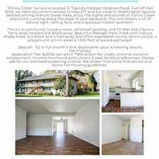 Rental info for 10275 Southwest 85th Avenue #65 - 3 in the Tigard Neighborhood Area 3 area