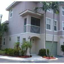 Rental info for BEAUTIFUL TURTLE RUN TOWNHOME in the Coral Springs area