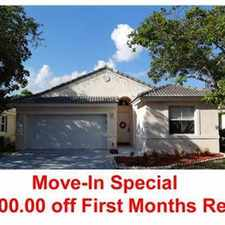 Rental info for $500 OFF THE FIRST MONTHS RENT!!!!!!!!!!!!!!! in the Coral Springs area