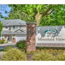 Rental info for Townhomes at Mountain View