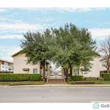 Rental info for Condo with 2 levels, washer & dryer connection, near Hwy 75 also by Baylor Hospital, nice park and playground across street, walking distance to stores and restaurants. in the Dallas area