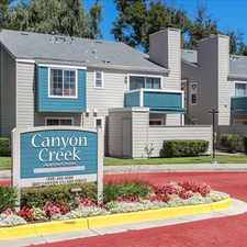 Rental info for Canyon Creek