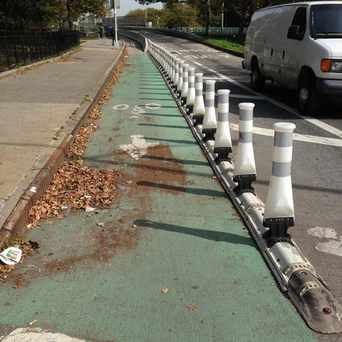 Photo of Protected Bike Lane in Windsor Terrace, New York