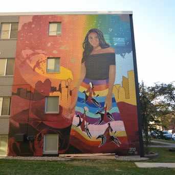 Photo of Mike Valcourt Urban Mural in Calgary