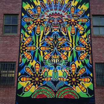 Photo of Colorful Mural Downtown in Tulsa