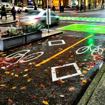 Photo of Dunsmuir Street Cycle Track in Downtown, Vancouver