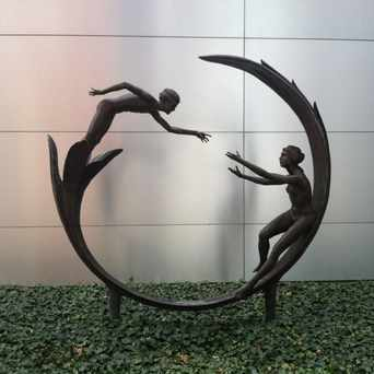Photo of Bronze Art in Downtown, Akron