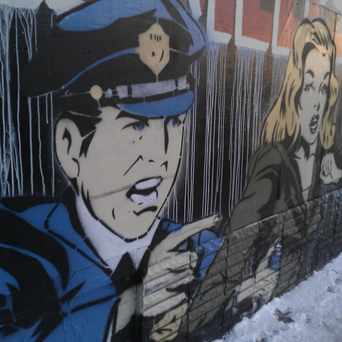 Photo of Polizia Pop Mural in Lowry Hill East, Minneapolis