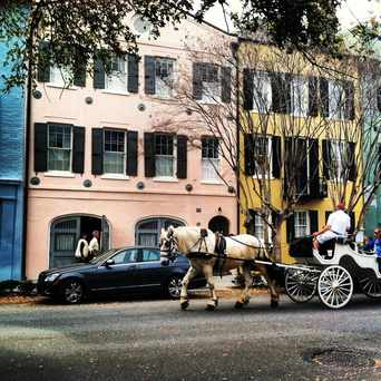 Photo of Rainbow Row in Charleston