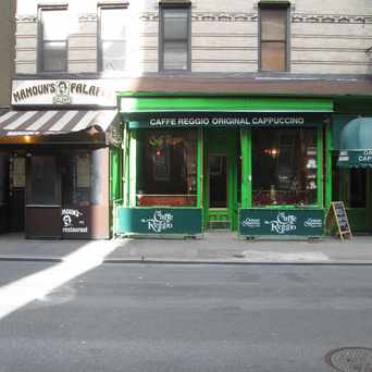 Photo of Caffe Reggio in Greenwich Village, New York
