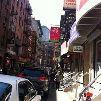 Photo of Pell Street in Chinatown, New York