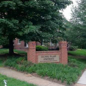 Photo of Colonial Village Sign in Colonial Village, Arlington