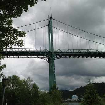 Photo of St Johns Bridge in Cathedral Park, Portland