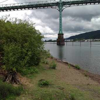 Photo of A Beach With A View in Cathedral Park, Portland