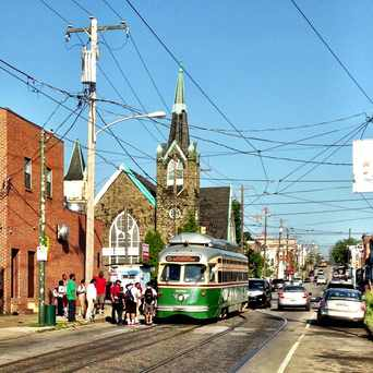 Photo of SEPTA Trolley Historic Route 15 in Haddington, Philadelphia