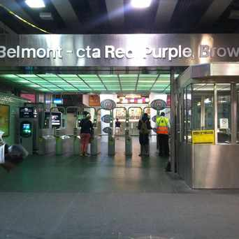Photo of Belmont & Sheffield (Red/Brown/Purple Line) in Lakeview, Chicago