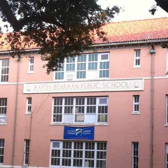 Photo of Martin Behrman Elementary School in Algiers Point, New Orleans
