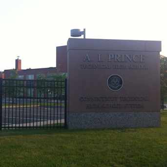 Photo of A. I. Prince Technical High School in Behind the Rocks, Hartford