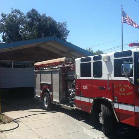 Photo of Oakland Fire Substation in Glenview, Oakland