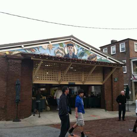 Photo of Market Street mural in Charleston