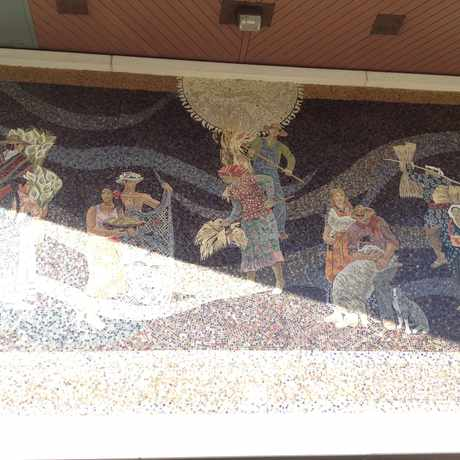 Photo of Mosaic on Chase bank entrance. in West Portal, San Francisco
