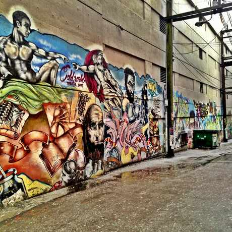 Photo of Mural Alley in Downtown, Vancouver