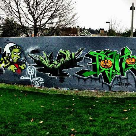 Photo of Mural By Skatepark in Redmond
