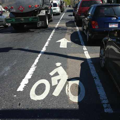 Photo of Bike Lane in Wellington Hill, Boston