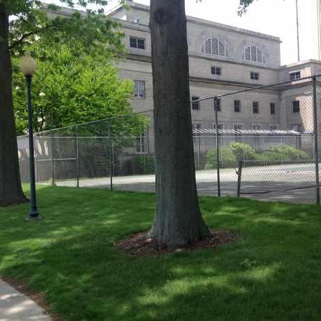 Photo of Saxon Tennis Courts in MIT, Cambridge