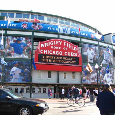 Photo of Wrigley Field in Lakeview, Chicago