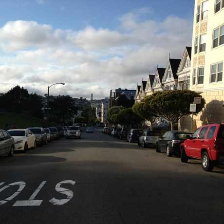 Photo of Steiner St in Alamo Square, San Francisco