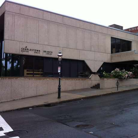 Photo of Charlestown Library in Thompson Square - Bunker Hill, Boston
